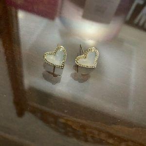 Kendra Scott iridescent druzy heart earrings